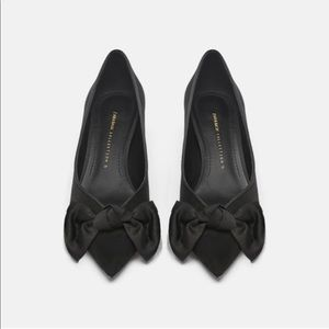 Zara Mid-Height Heels With Bow